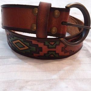 Mossimo leather southwestern belt sz M